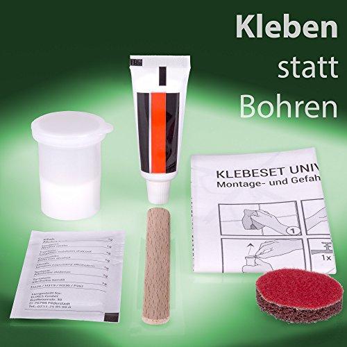 Golden Lutz® 2K Klebeset Universal - Zur Befestigung von Badezimmer-Accessoires - ganz ohne Bohren