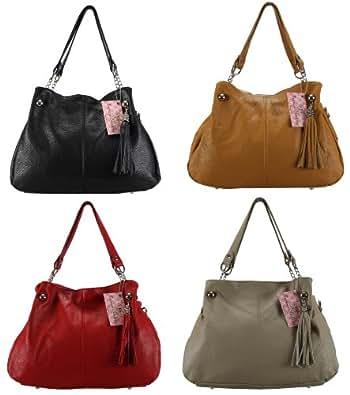 Les Trésors de Nadège - Sac à Main Cuir Grainé - Modèle Julia - Handbag leather