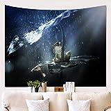 Morbuy Frosch Tapisserie, Dekor Wandteppich Tapestry Motiv Wandbehang aus Polyster Wandtuch Tischdecke Yogamatte (Groß (150 x 230cm), Nachtregen)