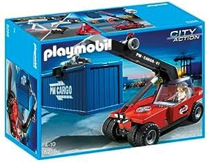 playmobil 5256 jeu de construction chariot t lescopique avec conducteur jeux. Black Bedroom Furniture Sets. Home Design Ideas