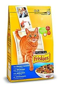 Friskies Chat - Croquettes Colin et legumes ajoutes - 4 kg