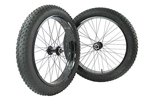 RIDEWILL BIKE Coppia ruote fat bike 24'' con coperture 24x4.00 + camere d'aria (Ruote Fat Bike) / Wheelset fat bike 24'' with tires 24x4.00 + inner tubes (Fat Bike Wheels)