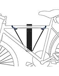 Relaxdays Support mural pour vélo Bleu/Noir