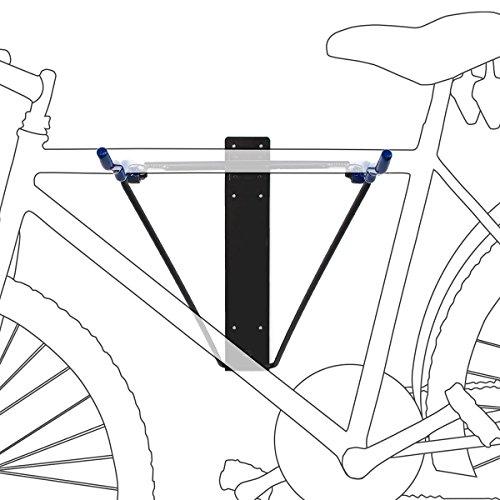 Relaxdays Fahrradhalterung, Für 2 Fahrräder, Fahrradhalter zur Wandmontage, Max. 50 kg, HBT 43,5 x 34 x 67 cm, schwarz / blau Test