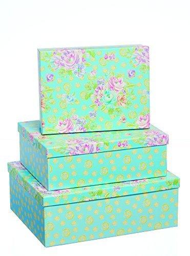 Scatole Regalo - Floreale Fusion - Cestino di 3 scatole