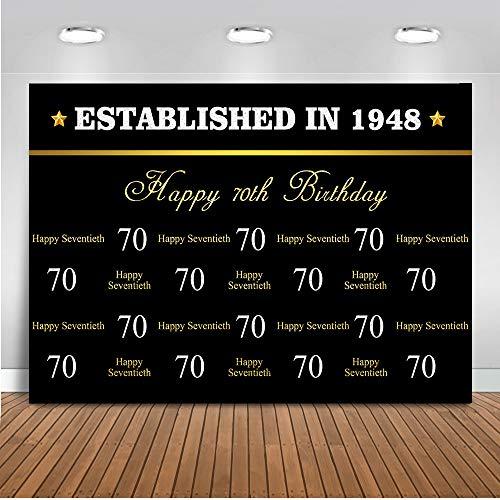 Mehofoto - Pancarta para decoración de Fiesta de cumpleaños, 50 años, 60 años, 70 y 80 cumpleaños, 7 x 1,5 m