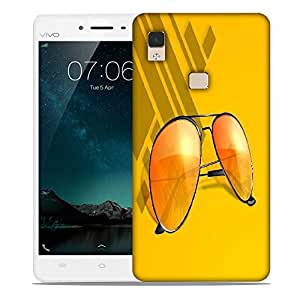 Snoogg abstract summer background Designer Protective Back Case Cover For Vivo V3 Max