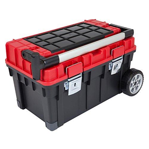 Werkzeugkoffer WHEELBOX HD TROPHY 3 Werkzeugkiste Rollwagen Alugriff schwarz / rot Trolley