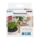reer 83011 Pflanzenschutznetz verhindert das Entnehmen von Blumenerde, durchmesser 20 cm, schwarz