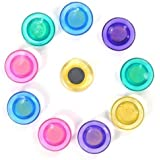 Okayji Colorful Translucent 20 Mm Magnet Buttons for Fridge, Magnetic White-Boards Set of 10