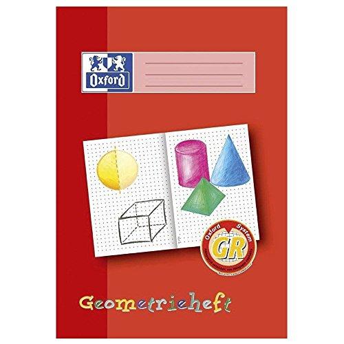 """5x Oxford Schreiblernheft """"Geometrieheft"""", Lineatur: GR, DIN A4"""