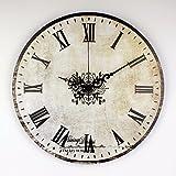 Shuangklei Absolut leise Wanduhr Dekorativ groß Vintage mit Uhr wasserdicht und römische Zahl Wanddekoration Retro