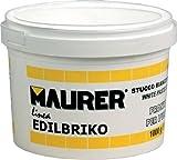 Maurer 14010352-Edil Mastice in plastica, Terrina da 1,0kg) colore: bianco