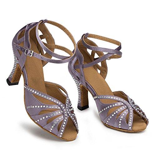 Miyoopark ,  Damen Tanzschuhe Gray-8cm heel