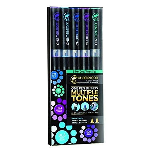 Chameleon Marker Set kühle Töne mit 5 Stiften