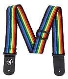 Tracolla per chitarra, multicolore, motivo: arcobaleno retro Old school 70da hippy anni 60Fab UK