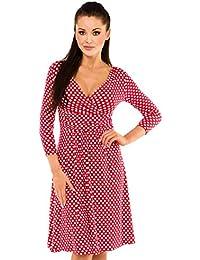 Zeta Ville - Robe Été - La robe à pois - Manches ¾ - Robe de fête - Femme - 017z