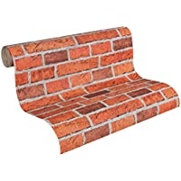 Innova 7798-16 Red Brick Effect Wallpaper