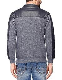 Octave Mens Zip Through Neck Colour Block Sweatshirt