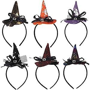 Diademas de Halloween,6 Piezas Sombrero