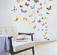 ملصقات ممغنطة للثلاجة او لتزيين الغرف، على شكل 15 قطعة من الفراشات، قابلة للتركيب اليدوي