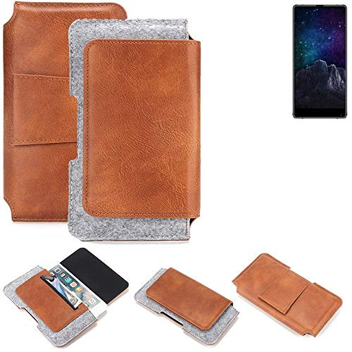 K-S-Trade Gürteltasche für M-Horse Pure 2 Gürtel Tasche Schutz Hülle Hüfttasche Belt Case Schutzhülle Handy Hülle Smartphone Sleeve aus Filz + Kunstleder (1 St.)