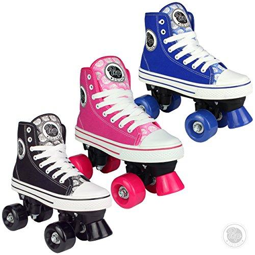 Pop Squad–Midtown Quad Roller Skate–verschiedene Farben/Größen, Pitch Black (Roller-skates Günstige)