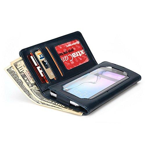 Kroo Portefeuille unisexe avec Asus Padfone 2/Padfone Mini Universel Compatible avec différentes couleurs disponibles avec affichage écran Bleu - bleu Bleu - bleu