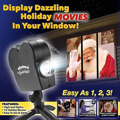 Window Projector 12 Modes 6 Christmas 6 Halloween Dynamic Effect transformiert Ihre Fenster in Cinhematographischen Displays für Festival Fenster 220 V (Halloween Windows Display)