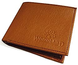 Wood Land Tan Mens Wallet