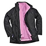 Portwest S571BKRXXL Elgin 3-in-1 Ladies Jacket, Regular, Size XX-Large, Black