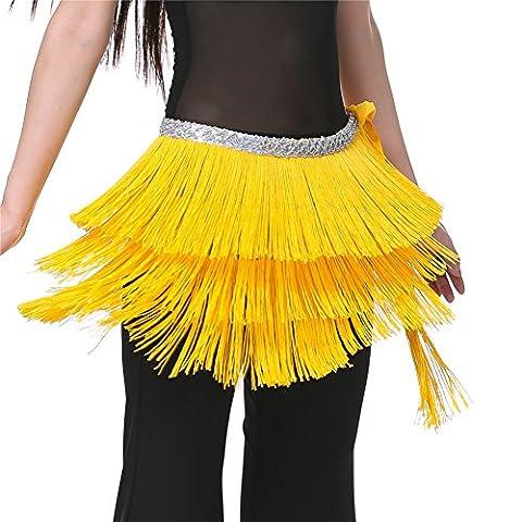 Dance Fairy Jaune Hip danse du ventre écharpe argentine Belly Dance châle