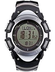 SUNROAD Sport Reloj 3ATM stopptuhr Digital Reloj de pulsera multifunción reloj con brújula altímetro predicción meteorológica Cuenta atrás para hombre y mujer, color Weiss