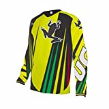 Uglyfrog Designs Bunt Herren Sommer&Frühling Lange Ärmel V-Kragen Motorsport/Motorrad/Downhill Moto Cycling Racing Racer T-Shirt
