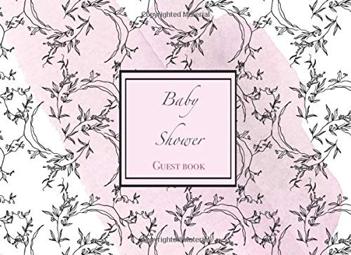 Baby Shower. Guest Book: beautiful watercolor wash flowers theme for baby shower events. Compact portable size -