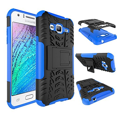 Chevron Hybrid Military Grade Armor Kick Stand Back Cover Case for Samsung Galaxy J3 2016 (Blue)  available at amazon for Rs.149