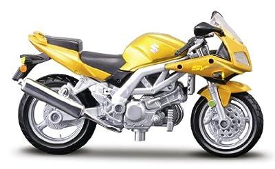 Suzuki SV 650S, gelb, Maisto Motorrad Modell 1:18 von Maisto