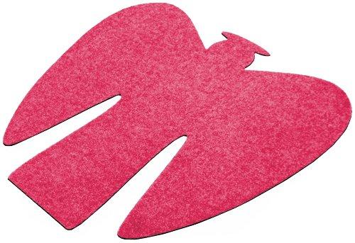 Fußmatte / Dekomatte / Schmutzfangmatte, Engel, 110 x 110 cm, pink, aus hochwertigen Polyamidfasern auf einem Vinylrücken, Höhe 8 mm, gute Wirkung gegen Nässe und Schmutz
