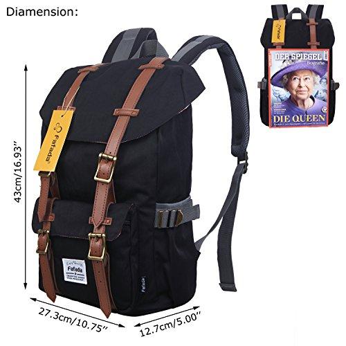 Imagen de fafada unisex  nylon causal hombres la sara  saco de viaje la bolsa de ordenador 18l c negro alternativa