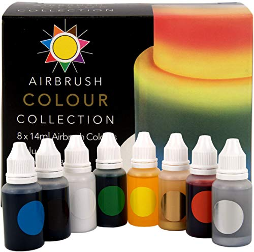 Sugarflair Airbrush Colors Multipack - Packung mit 8 Stück - 8 Color Multi Pack
