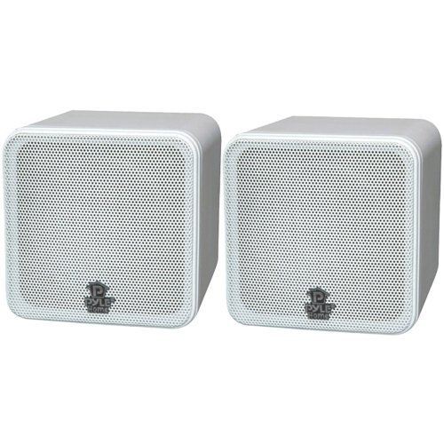 Patio Cube (PYLE HOME PCB4WT 4'', 200-Watt Mini-Cube Bookshelf Speakers (White))