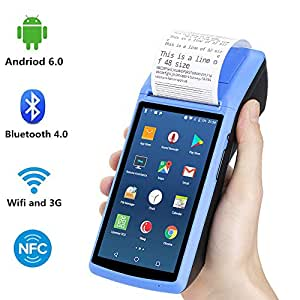 Handheld Android6 0 POS Terminal with 2G 3G WIFI Bluetooth NFC MUNBYN  Built-in Thermal Printer and 1D 2D QR Barcode Reader for Small Business  Receipt
