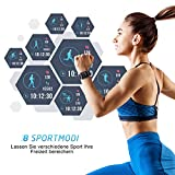 Mpow Smartwatch Wasserdicht IP68 Smart Watch Uhr mit Pulsmesser Fitness Watch Bluetooth Smartwatch Fitness Tracker Intelligente Armbanduhr mit Schrittzähler Schlaf-Monitor Call SMS für Android iOS - 2