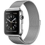 Apple Watch 42 mm - Edelstahlgehäuse (silber) mit Milanaise Armband (silber) [EU Version]