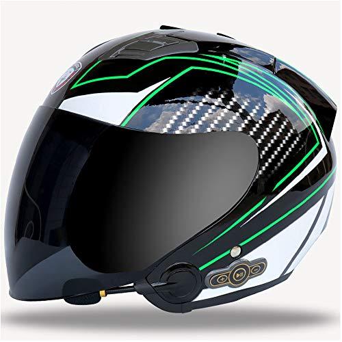 Lupanze Motocross Bluetooth Helm HD Objektiv Elektro Fahrradhelm Herren und Damen Jugend Paar Helm,M (Flug 232)