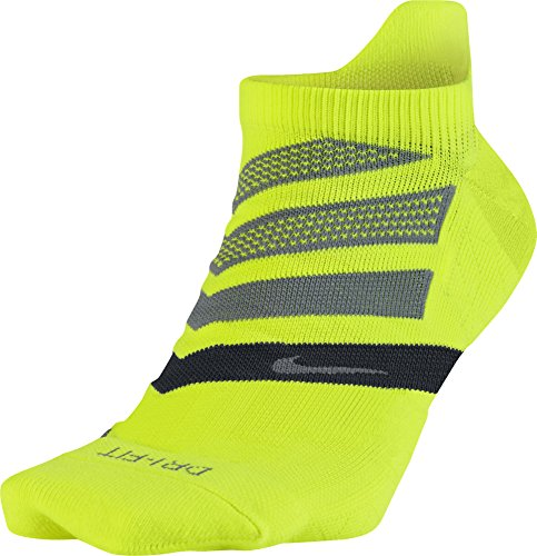 Nike U Nk Perf Cush Ns-Rn Calcetines, Hombre, Amarillo (Volt / Black / Cool Grey), L