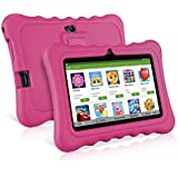 Ainol Q88 Kids Tablet PC,7 Inch Android 7.1 Display 1G RAM 8 GB ROM Tablet Dual 0.3MP Camera Kid-Proof Silicone Case Kickstand Available With IWawa For Kids Education Entertainment- Pink