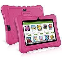 ainol Q88-(Tablet para niños con WiFi de 7 Pulgadas,Tablet Infantil de Android 7.1, Regalo para niños,Quad Core 1GB+8GB,Soporta Tarjeta TF 64GB,Juegos educativos) Rosa