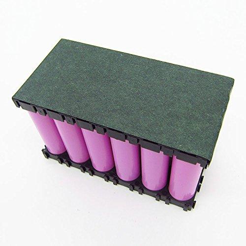 CHENXI Shop 2Stück 130* 60mm Karton 18650Batterie, Isolatoren Elektrische isolierend Selbstklebendes Papier 2 Batterie-isolator