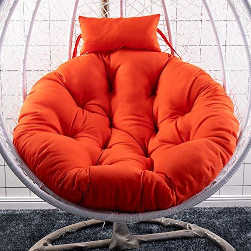 Beige-deck-matte (JANRON Hängesessel Swing, HäNgenden Korb GefüLlt Stuhl-Pads, Große Sitzkissen Hängende Ei Sessel Sitzkissen Swing Chair Wiege Für Indoor Outdoor Home Terrasse Deck Garten -105CM (41ZOLL))